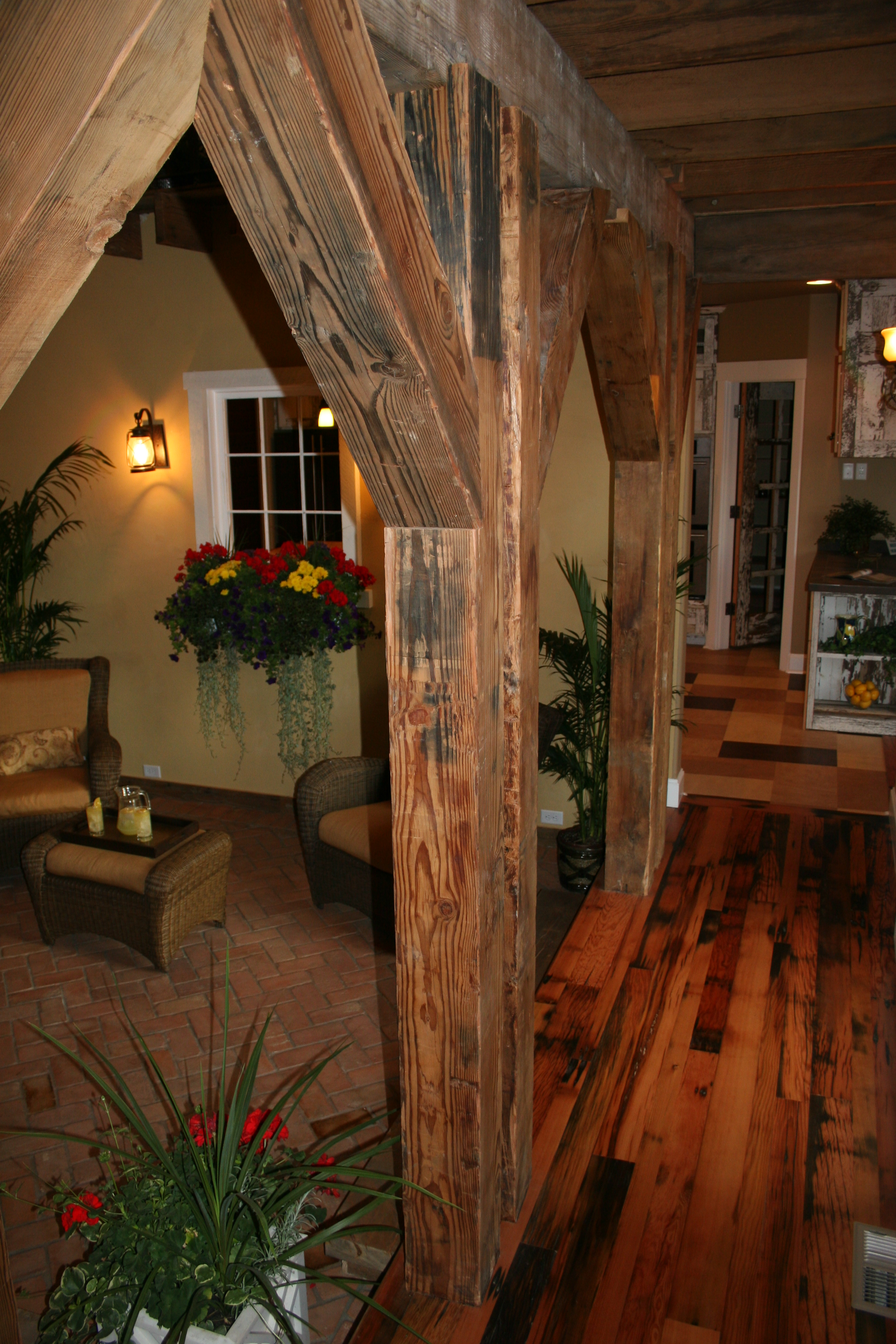 Floors made from reclaimed pickle barrels