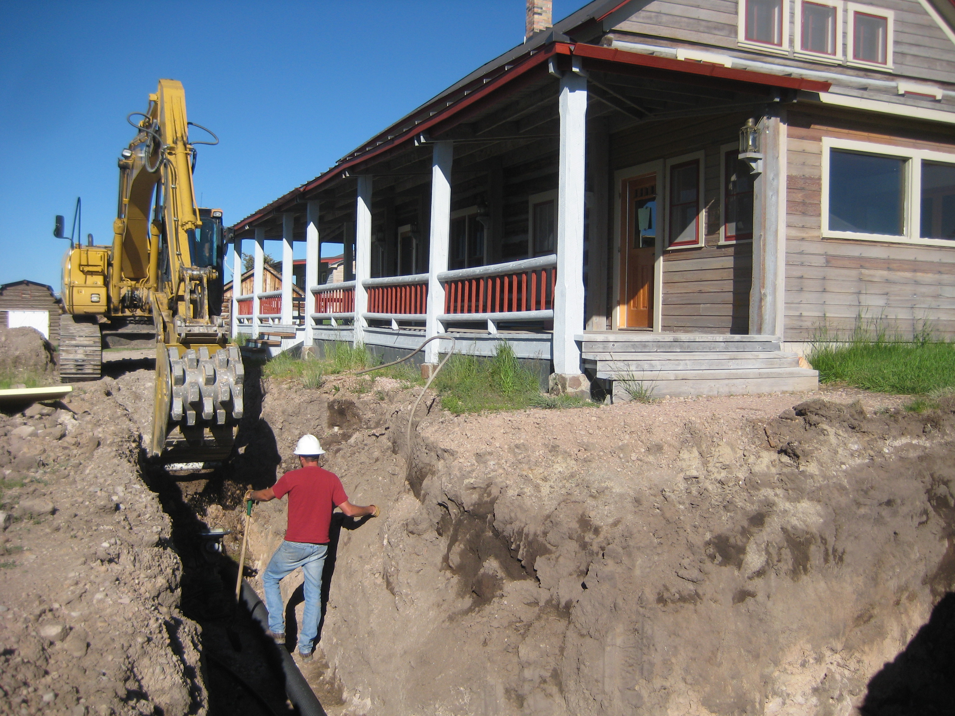 House was provided with new plumbing and electrical services