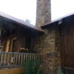 Rugged stone chimney